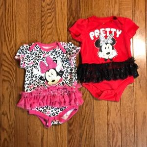 Bundle, 2 Mickey Mouse onesie with tutu, 6-9 month